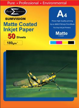 SumVision 180 gsm matt A4 paper 20 packs (1000 sheets)